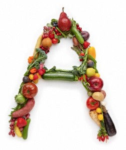 "Letter ""A"" in produce"